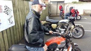 Gordon on a motorbike