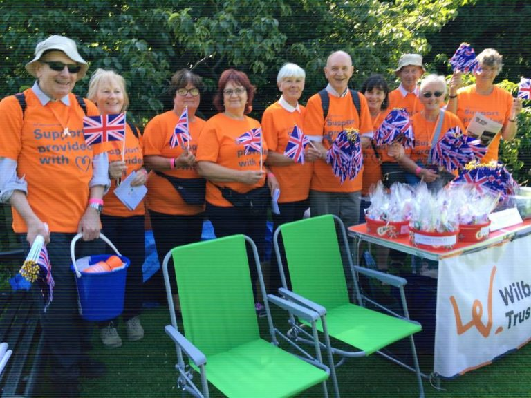 Volunteers celebrating the Proms