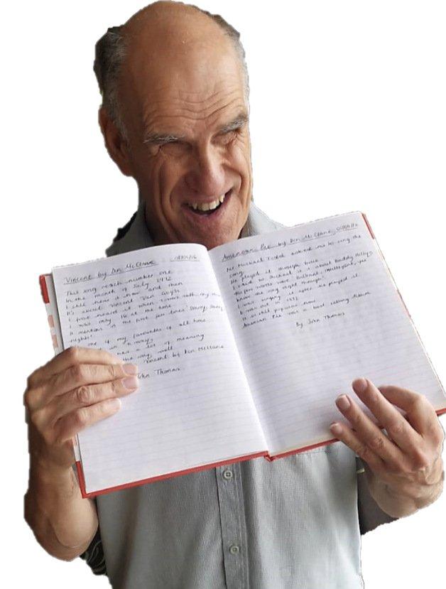John Thomas with his poems