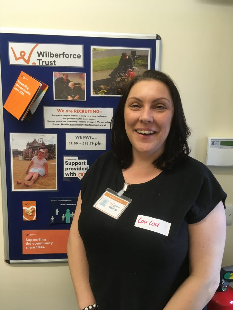 Photo of support worker Lou