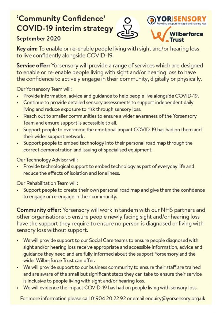 Image of Community Confidence COVID19 Interim Strategy PDF