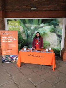 Tracy at Wilberforce Trust stand