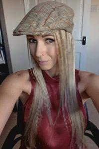 Samantha wearing flat cap