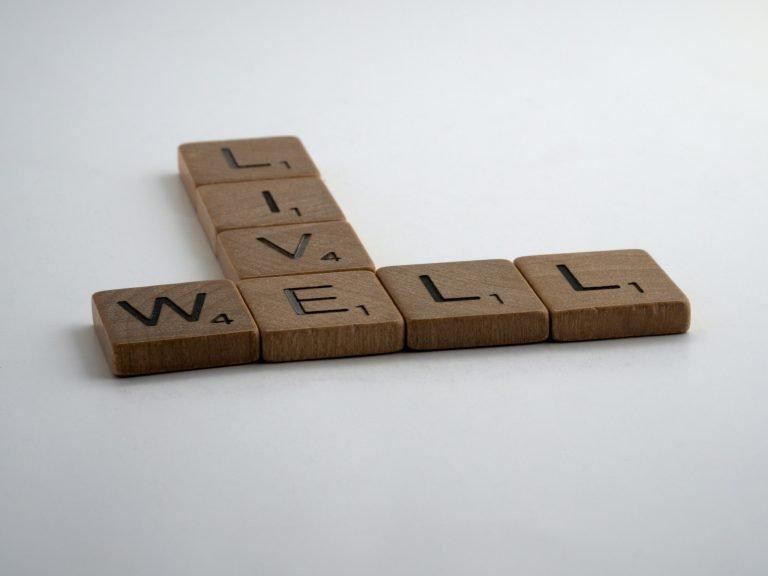 Live Well Scrabble Tiles